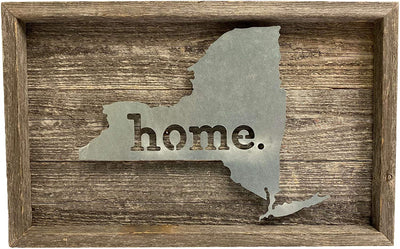 BarnwoodUSA Rustic farmhouse metal state sign
