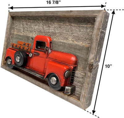 "16 ⅞""x10"" farmhouse decorative truck sign side view"