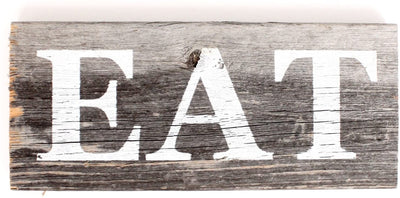 BarnwoodUSA Farmhouse Sign EAT
