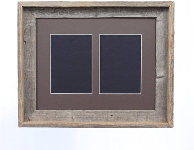 Weather Wood 5x7 Inch Signature Picture Frame for 2 Photos