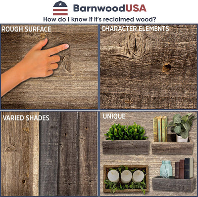 BarnwoodUSA reclaimed wood planter box