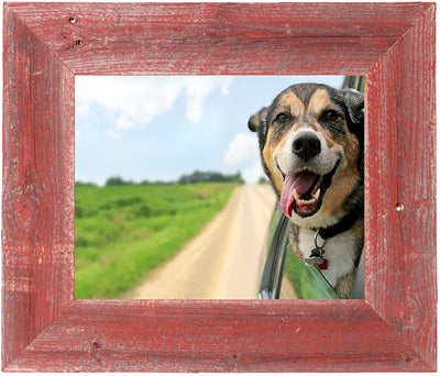 BarnwoodUSA Farmhouse Picture Frame with 3 Inch Wide Frame, 100% Reclaimed Wood