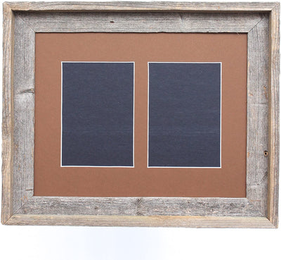 Aged Oak 5x7 Inch Signature Picture Frame for 2 Photos