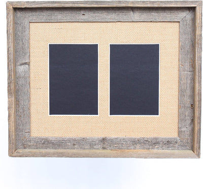 Burlap 5x7 Inch Signature Picture Frame for 2 Photos