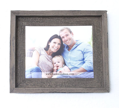 Faux Rustic Signature Picture Frame, Weathered Bin