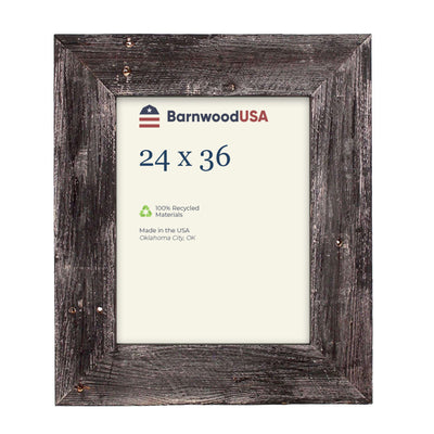 Rustic Farmhouse 3-Inch Picture Frame | Smoky Black
