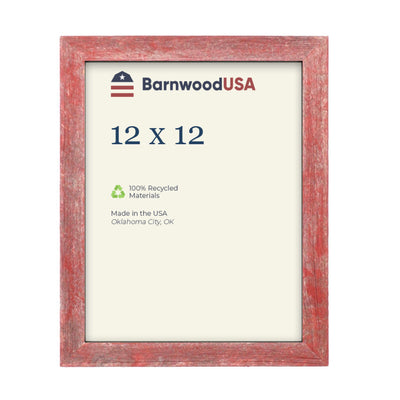 Rustic Farmhouse 1 1/2-Inch Picture Frame | Rustic Red