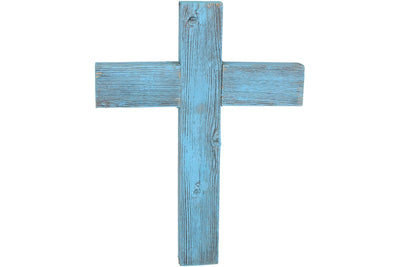 BarnwoodUSA Wall Hanging Rustic Holly Decorative cross, 100% Upcycled wood