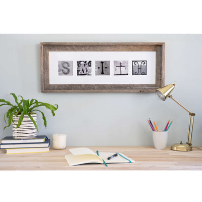CUSTOM Alphabet Photography Frame | Family Name Sign | Creative Letter Art