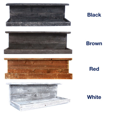 BarnwoodUSA Rustic Shelf, Hanging Wooden Wall Ledge, Country Home Decor