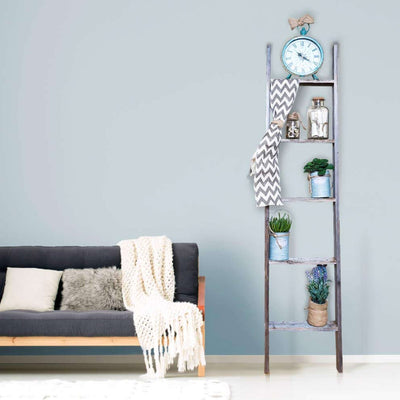 Rustic Farmhouse Bookcase Ladder
