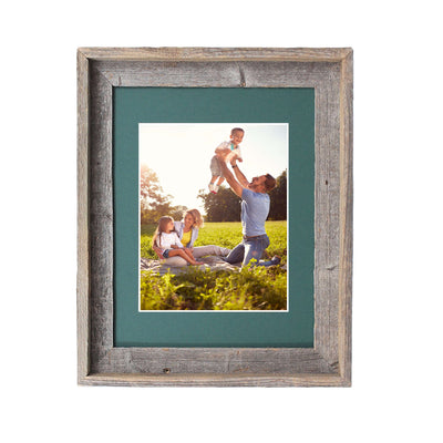 Rustic Signature Picture Frame with Hunter Green Mat