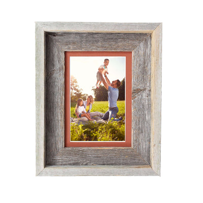 Rustic Signature Picture Frame with Terra Cotta Mat