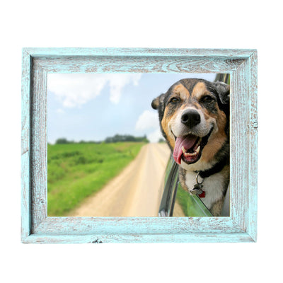 Rustic Farmhouse Signature Picture Frame | Robins Egg Blue