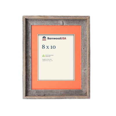 Rustic Signature Picture Frame with Tangerine Mat