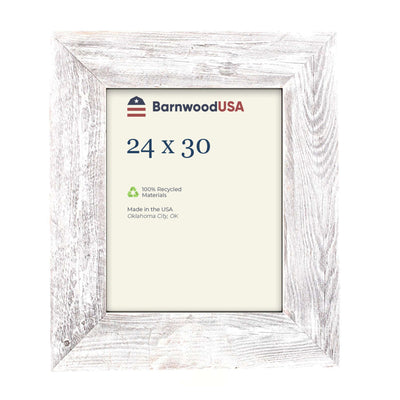 Rustic Farmhouse 3-Inch Picture Frame | White Wash