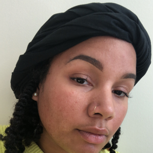 all black satin lined headwrap