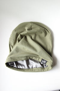 Olive Satin Lined Hat