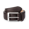DARK BROWN TEXTURED CALF BELT