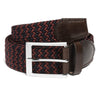 Bordeaux & Navy Woven Belt