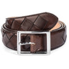 DARK BROWN WOVEN BELT