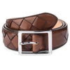 MID BROWN WOVEN BELT