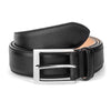 BLACK TEXTURED CALF BELT