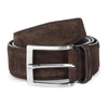WIDE DARK BROWN SUEDE BELT