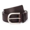DARK BROWN OVAL BUCKLE