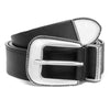 Black Calf Western Belt