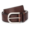 MID BROWN OVAL BUCKLE