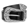 Black Fancy Western Belt