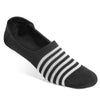Black/White Stripe No-Show Sock