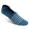Blue/Light Blue Stripe No-Show Sock
