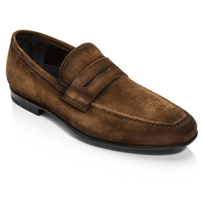 Corbin Medium Brown Suede