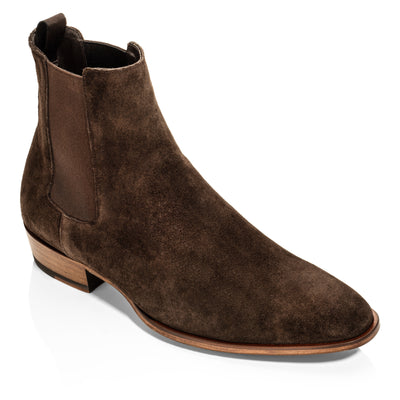 Shawn Dark Brown Suede