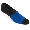 Black/Blue No-Show socks