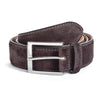 Dark Brown Suede Belt