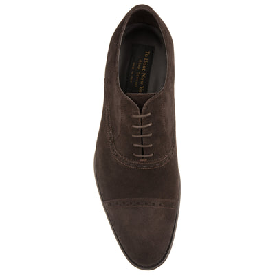 Gresham Dark Brown Suede