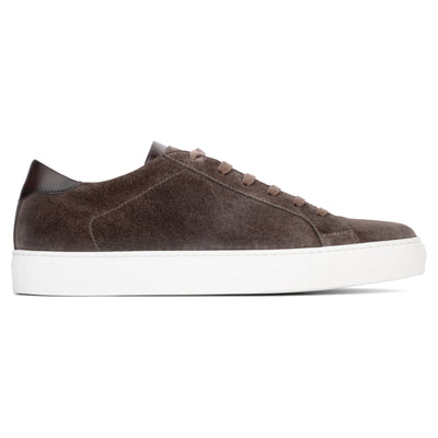 Alpha Dark Brown Suede