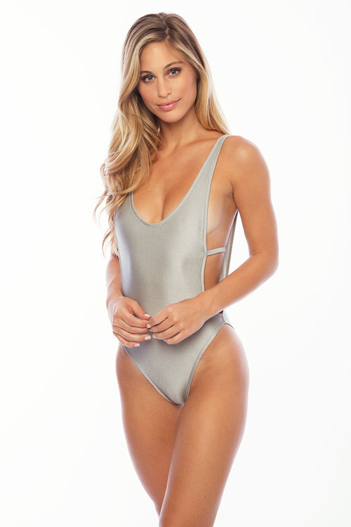 St Barths One Piece Suit Print - Platinum