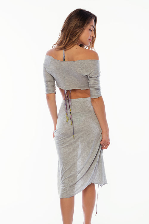 Santa Monica Skirt Cover Up - Solid Grey