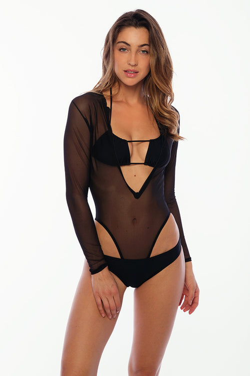 Crash Boat Mesh Bodysuit - Black