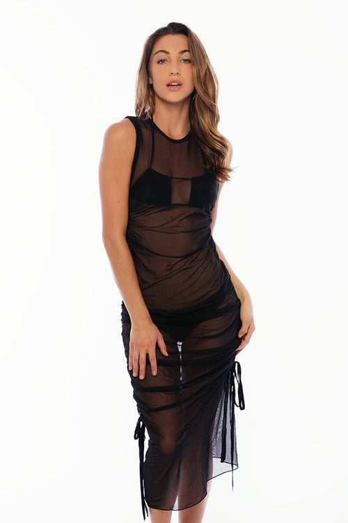 Hali Cover Up Mesh - Black