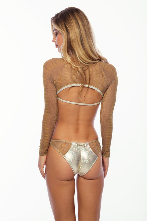 You and Me One Piece - Platinum Creme/Snake Print