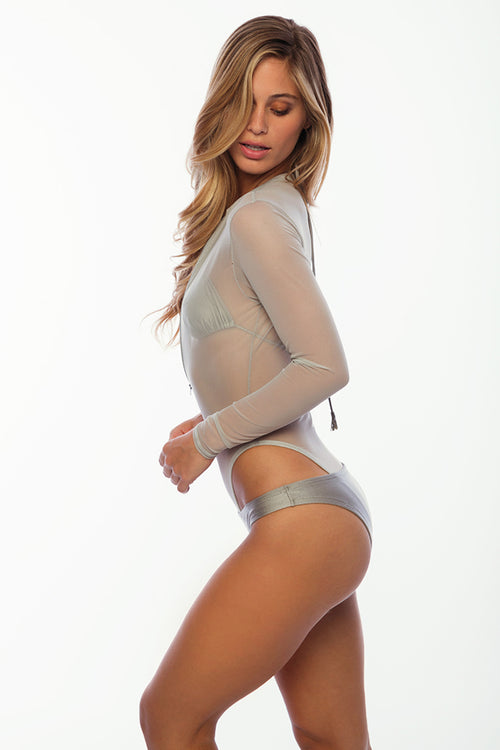 Crash Boat Mesh Bodysuit - Platinum