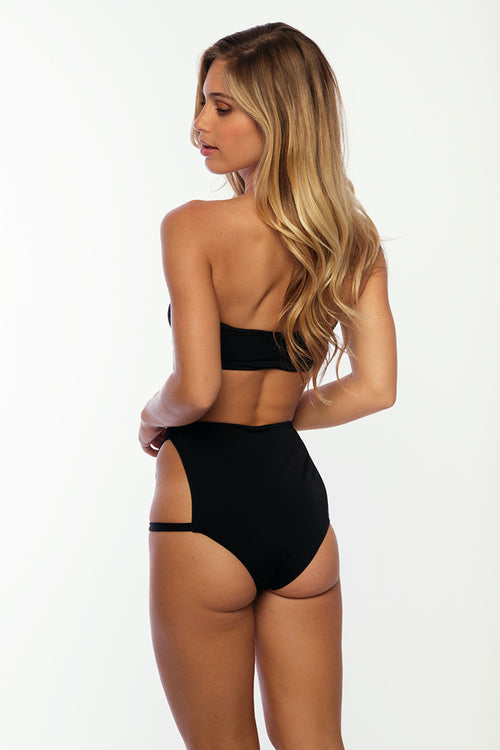 Pacifica Top Bandeau With Sleeves and Bow - Black