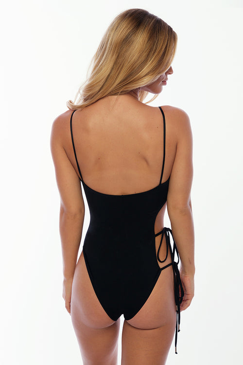 Fisher Island One Piece - Black