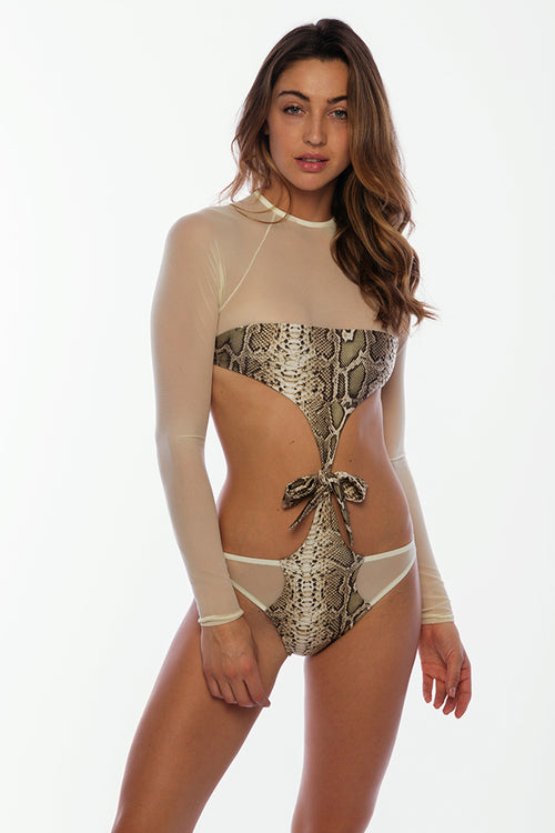 You and Me One Piece - Python Snake Print