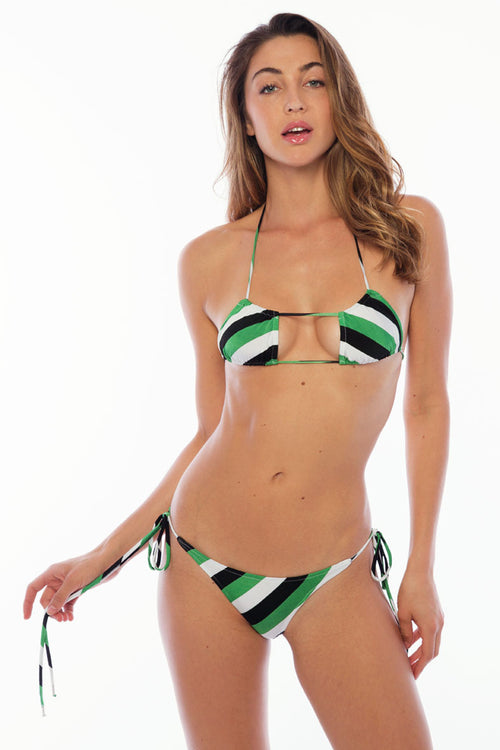 Marias Bottoms - Green Stripes